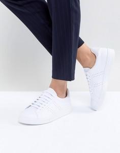 Кроссовки на шнуровке с перфорацией Fred Perry B72 - Белый