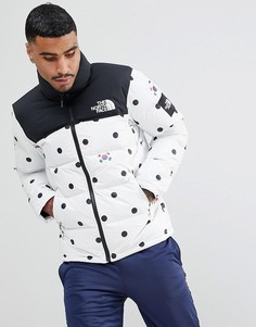 Пуховик в горошек The North Face International Limited Capsule Nuptse - Серый