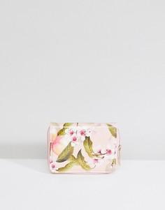 Маленький кошелек на молнии с цветочным принтом Ted Baker - Мульти