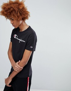 Черная футболка с большим логотипом Champion - Черный