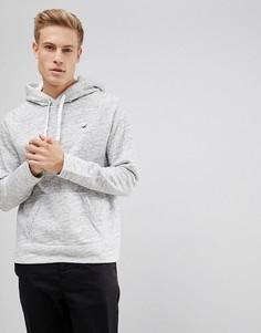 Серый худи с логотипом Hollister - Серый