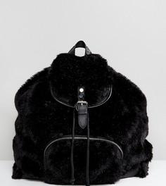 Рюкзак из искусственного меха Shikumi Giant - Черный