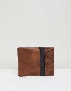 Светло-коричневый бумажник с эластичным ремешком New Look - Рыжий