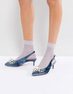 Туфли на каблуке с отделкой Essentiel Antwerp Pastis - Синий