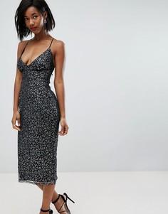 Платье-футляр миди на бретельках ASOS - Мульти