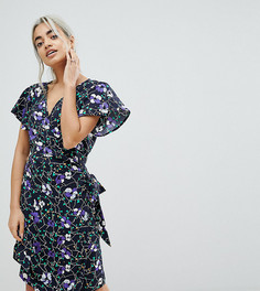 Платье с запахом Vero Moda Petite - Мульти