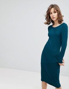 Облегающее платье миди Selected - Мульти