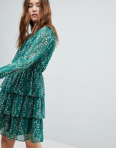 Приталенное платье Only - Зеленый