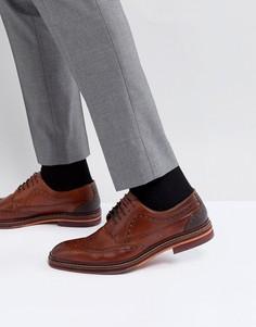 Светло-коричневые кожаные броги Ted Baker Gourduns - Рыжий