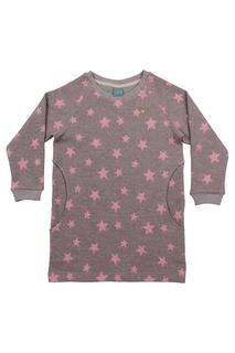 Розовое хлопковое платье со звездами Lisa&Leo