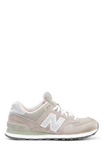 Бежевые кроссовки из замши №574 New Balance