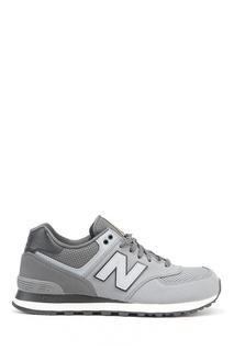 Серые кожаные кроссовки №574 New Balance