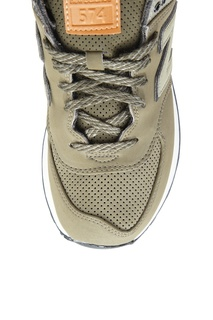 Кожаные кроссовки цвета хаки №574 New Balance