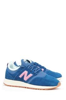 Синие замшевые кроссовки №247 New Balance