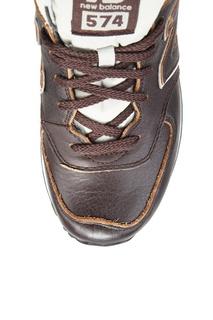 Коричневые кроссовки из кожи №574 New Balance