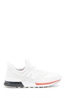 Белые кроссовки из замши и текстиля №574 New Balance