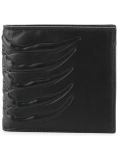 бумажник с тисненым рисунком Alexander McQueen