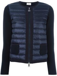 куртка-пуховик с трикотажными деталями Moncler