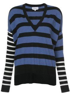 пуловер в полоску с V-образным вырезом  Derek Lam 10 Crosby