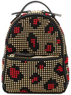 леопардовый рюкзак с заклепками Les Petits Joueurs