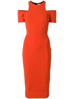 приталенное платье с открытыми плечами  Victoria Beckham
