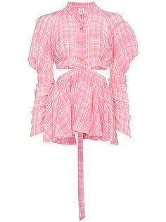 рубашка с запахом и баской  Rosie Assoulin