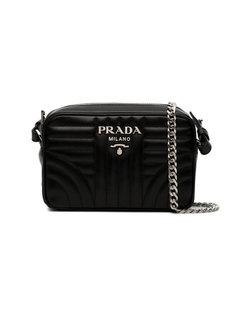 стеганая сумка через плечо Diagramme Prada