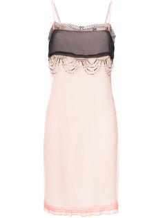платье с бисерной отделкой  Prada