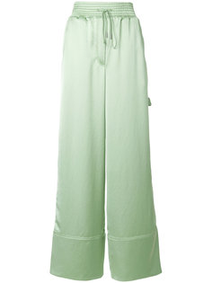 атласные широкие брюки Off-White