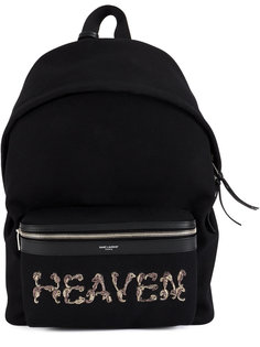 рюкзак с вышивкой Heaven Saint Laurent
