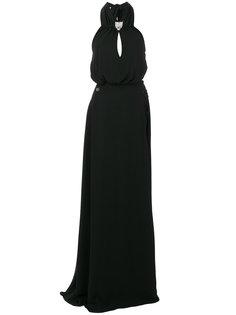 платье с вырезом-петлей халтер с декорированной головой пантеры Philipp Plein