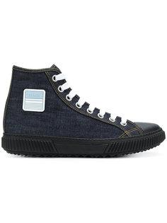 джинсовые хайтопы со шнуровкой Prada