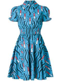 платье с принтом помад Valentino