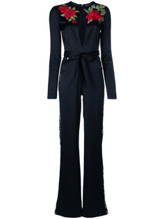 rose embroidered jumpsuit Philipp Plein