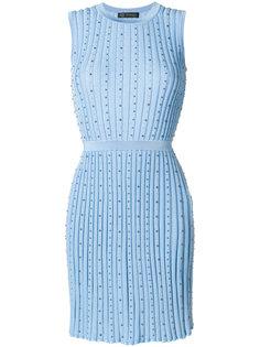платье без рукавов в рубчик  Versace