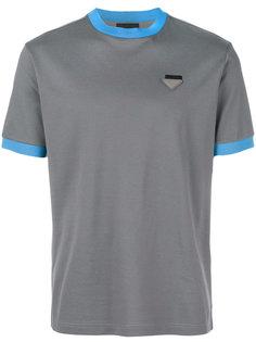 contrast-trim T-shirt Prada