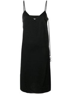 платье на тонких бретельках с V-образным вырезом  Mm6 Maison Margiela
