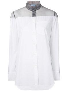 рубашка с полупрозрачной вставкой  Prada