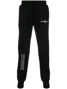 спортивные брюки с заплаткой с логотипом Rta