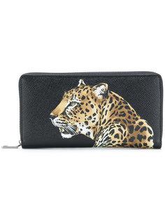 кошелек с леопардом Dolce & Gabbana