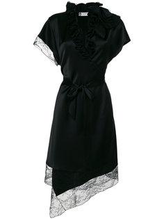 асимметричное кружевное платье  Lanvin