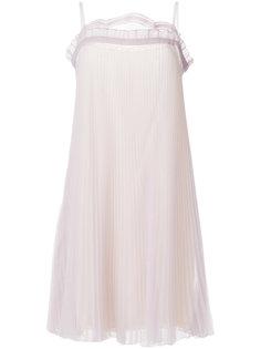 плиссированное платье  Prada