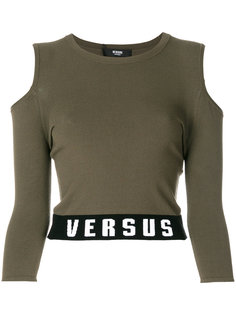 футболка с вырезами на плечах Versus