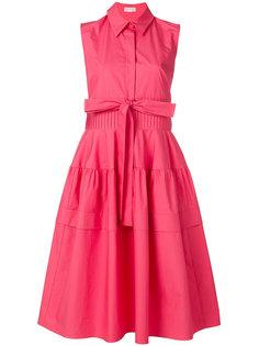 расклешенное платье-рубашка без рукавов Delpozo