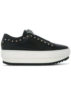 кроссовки на шнуровке и платформе Versace