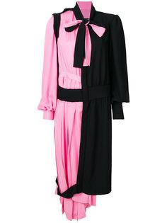 асимметричное платье-рубашка со вставками  Maison Margiela
