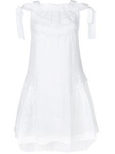 многослойное платье с кружевной отделкой  Ermanno Scervino