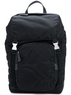 рюкзак с ремешками с пряжками Prada