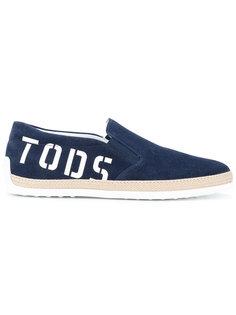 кеды с принтом-логотипом  Tods Tod'S