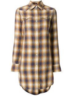 платье-рубашка в клетку  R13